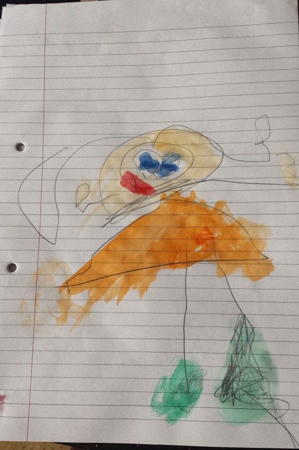 A self portrait by a very talented 3 year old.